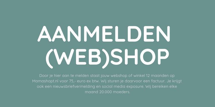 Aanmelden (web)shop