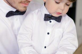 Feestkleding voor vader en zoon